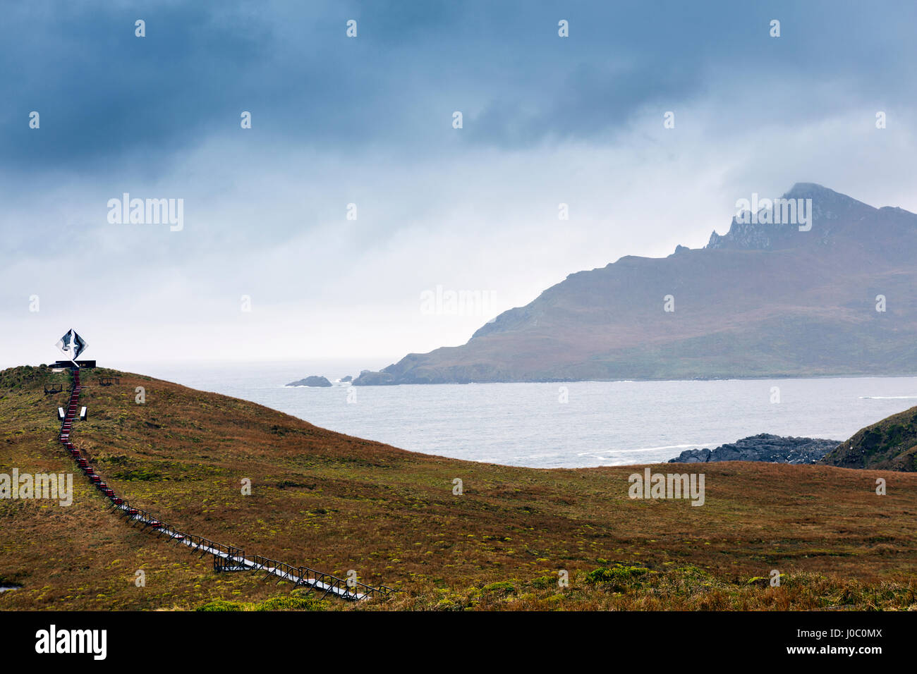 Cape Horn at the far southern end of South America, in the islands of Cape Horn National Park, Patagonia, Chile - Stock Image