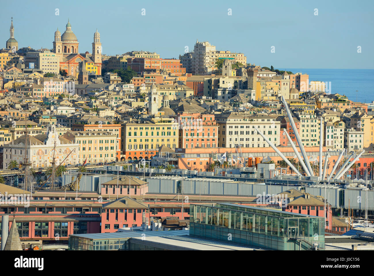 Cityscape, Genoa, Liguria, Italy - Stock Image