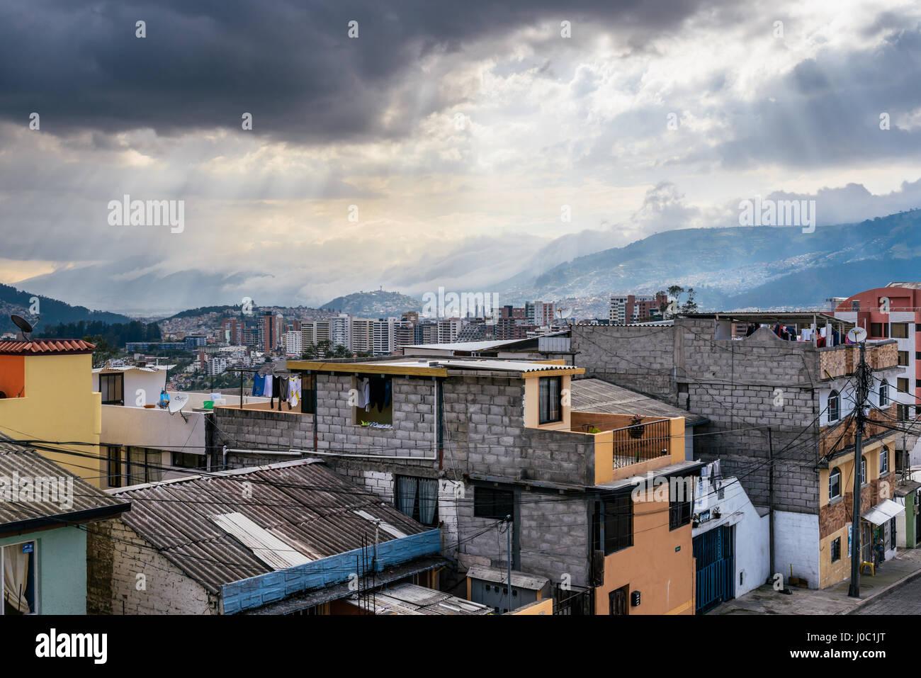 Cityscape of Quito, Ecuador - Stock Image