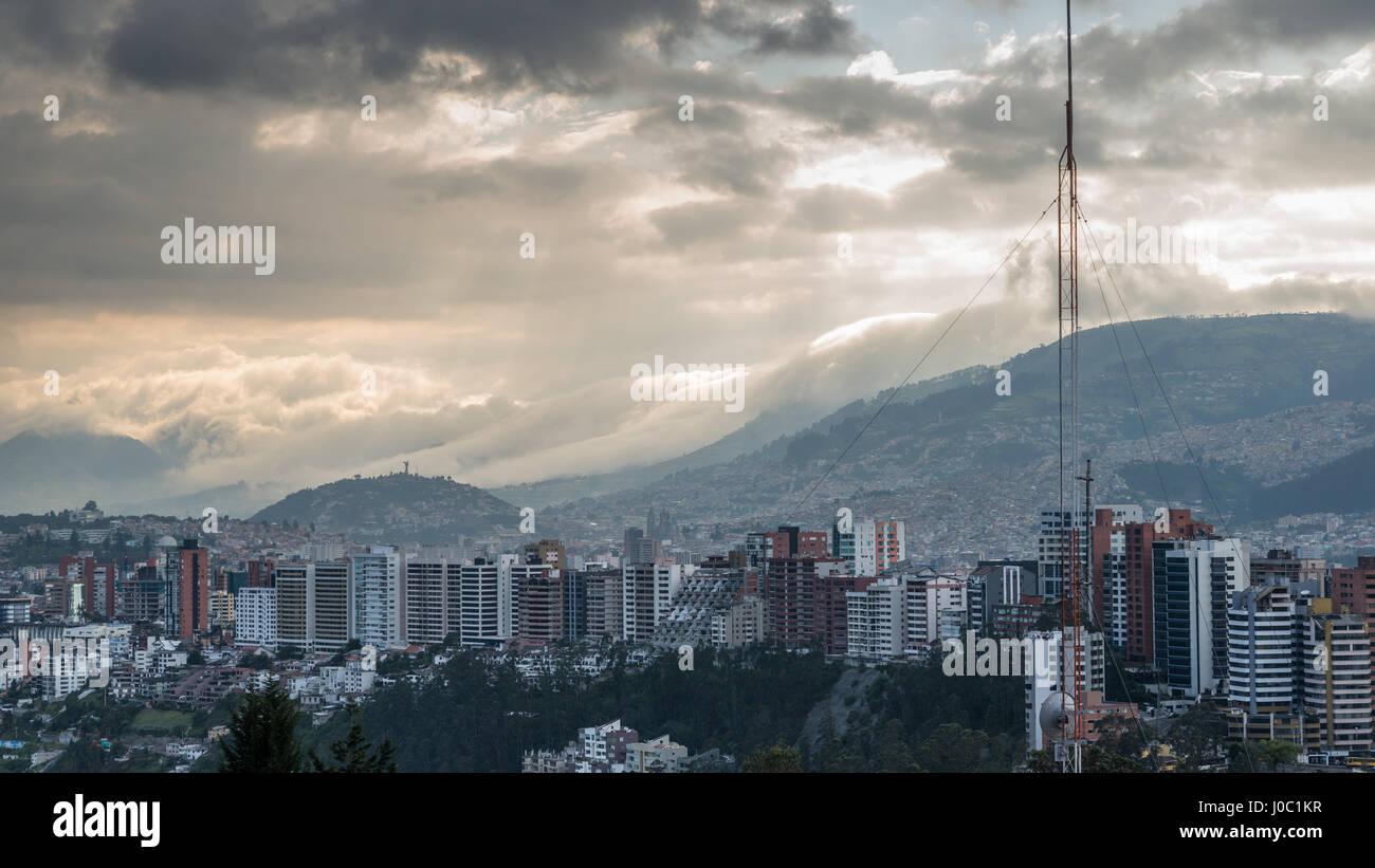 Cityscape, Quito, Ecuador - Stock Image