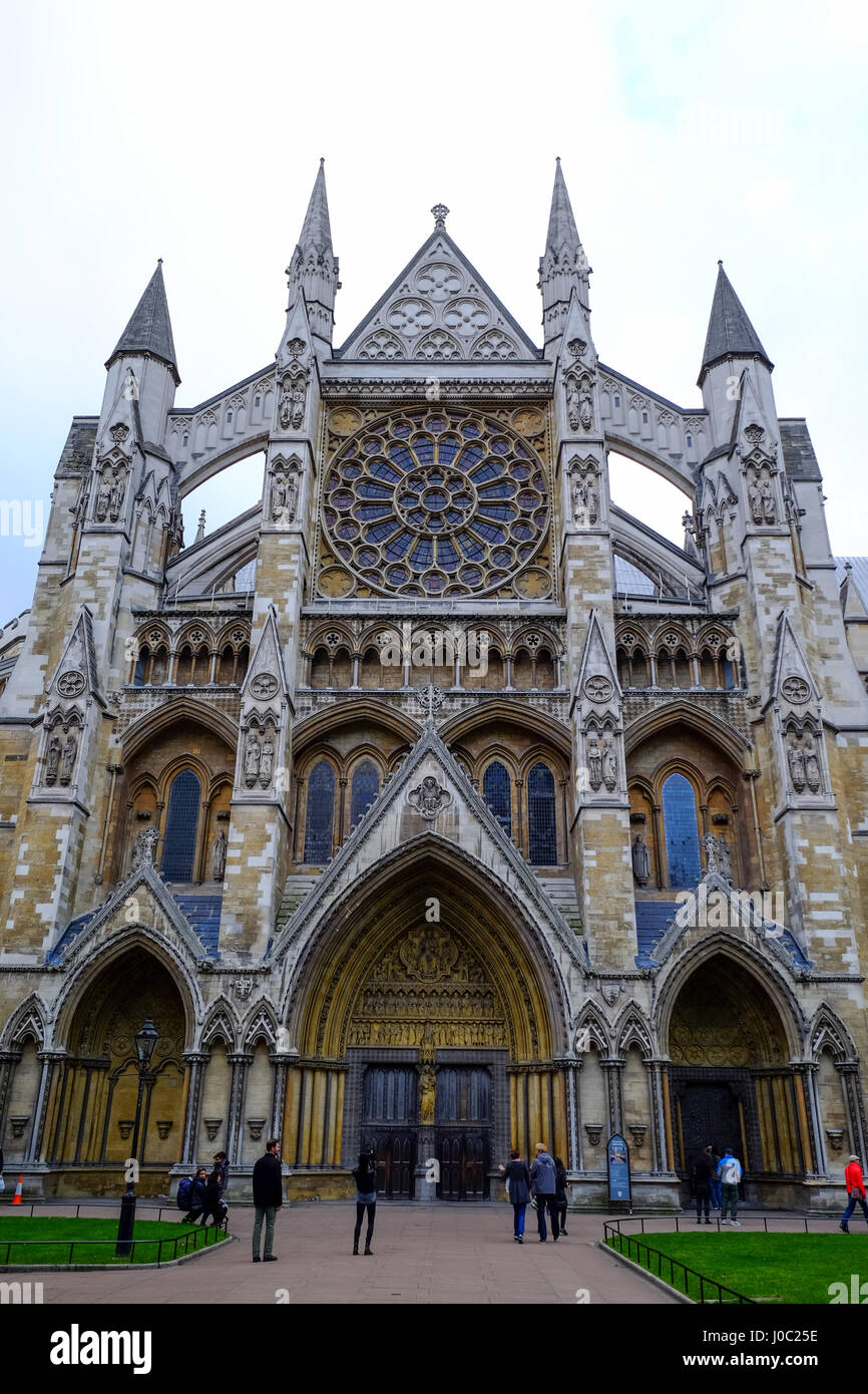North entrance of Westminster Abbey, London, England, UK Stock Photo