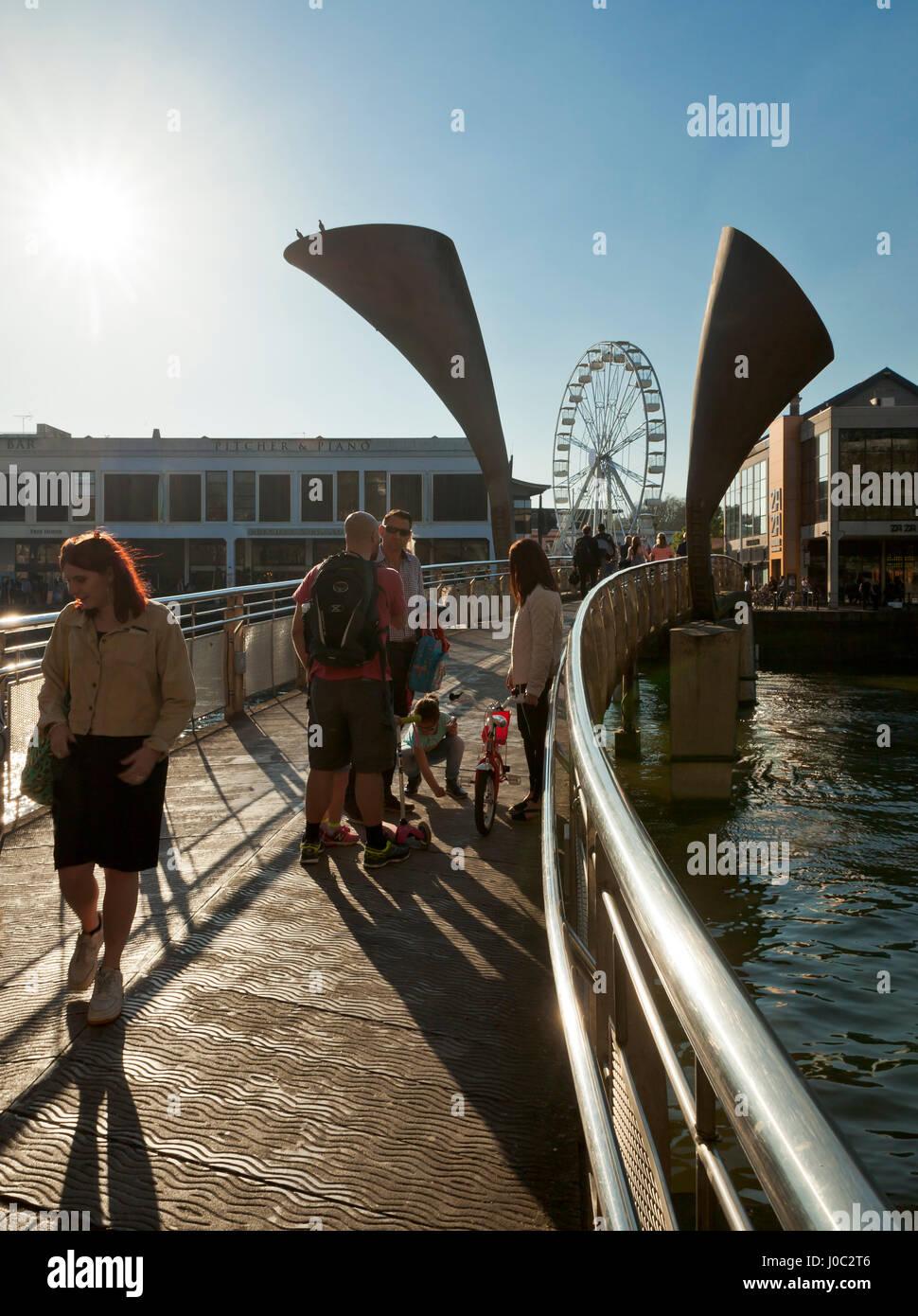 Pero's Bridge St Augustine's Reach, Bristol Harbour, Bristol. - Stock Image