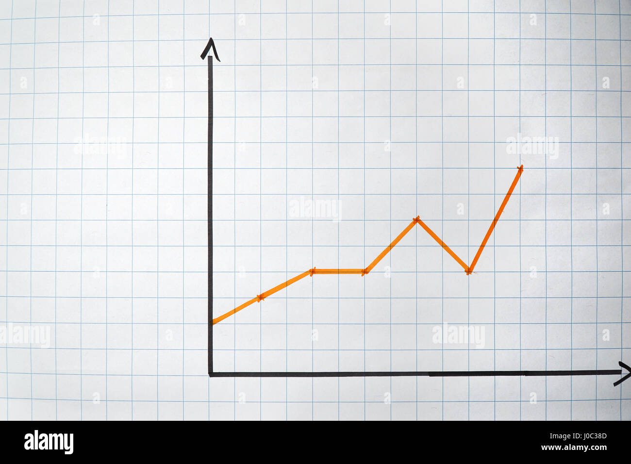 Empty chart on a flipchart - concept with plenty copyspace - Stock Image