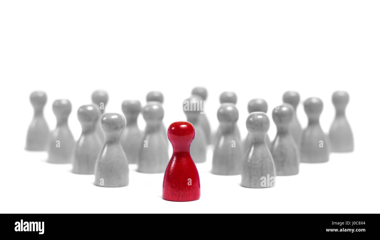 People are following their leader, loosing their individuality. - Stock Image
