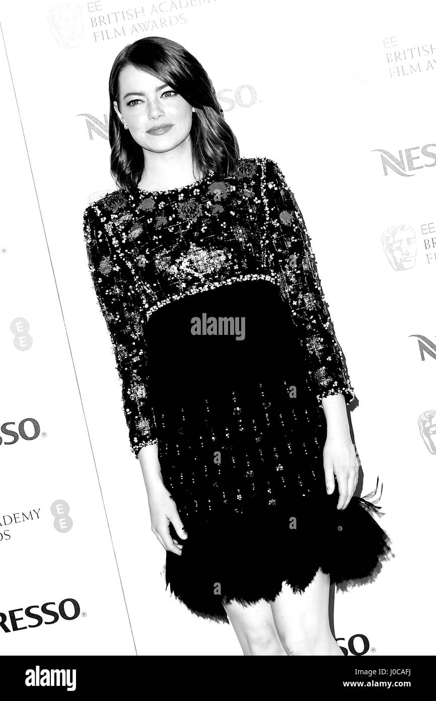 American actress Emma Stone attends the BAFTA nominees party at Kensington Palace in London. 11th February 2017 - Stock Image