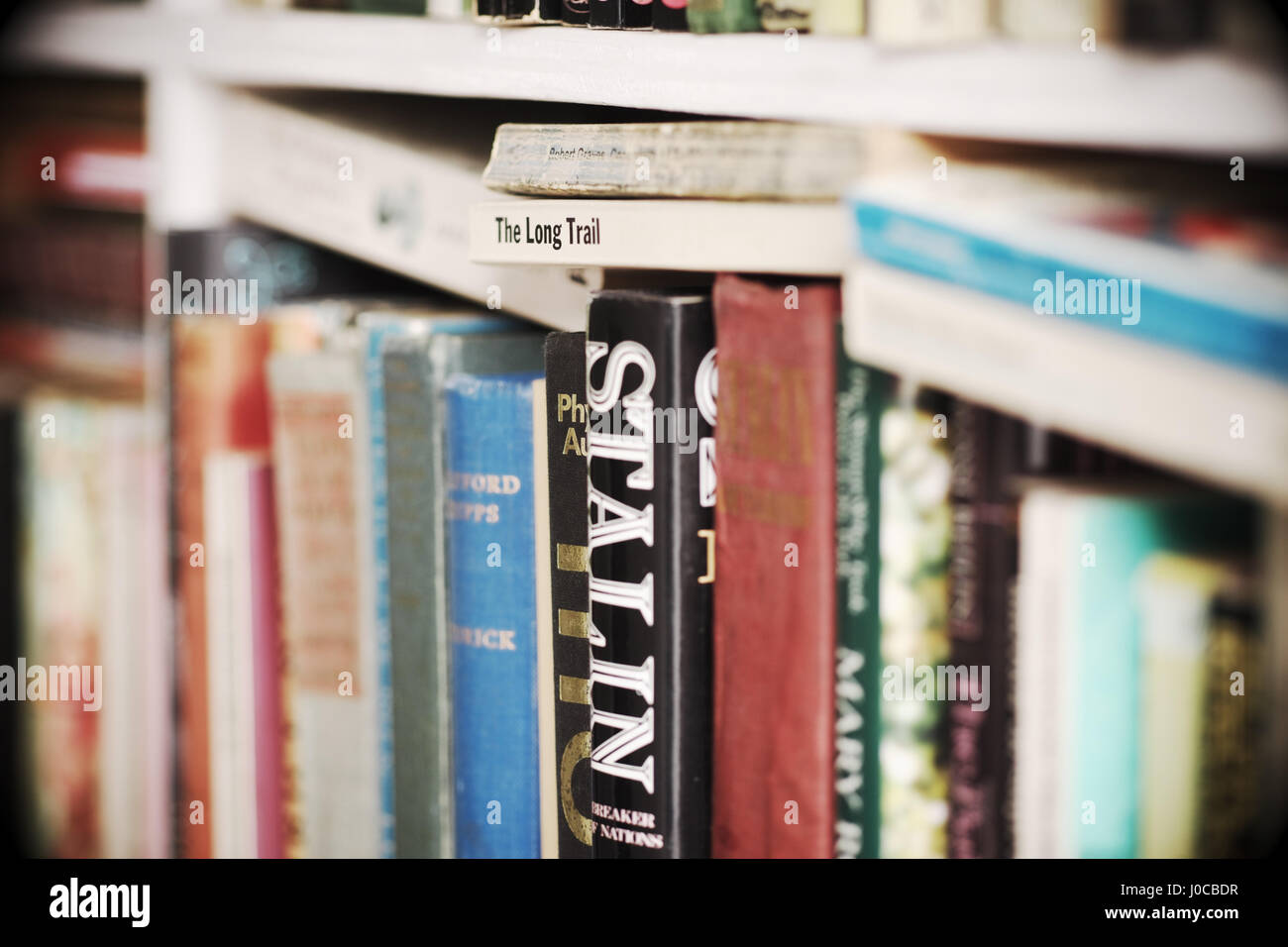 Hay on Wye - Secondhand books for sale Wales UK - Stock Image