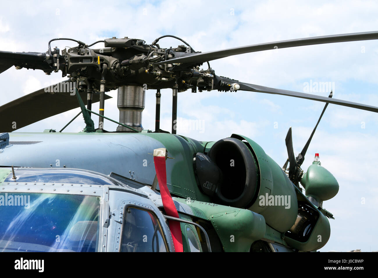 Military Helicopter rotor close-Up - Stock Image