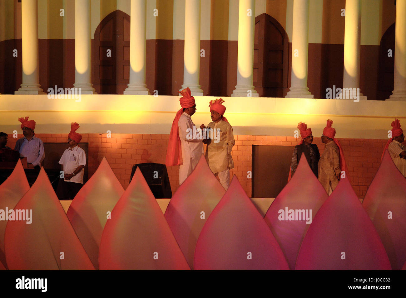 Members of bhartiya janta party public conference, mumbai, maharashtra, india, asia - Stock Image