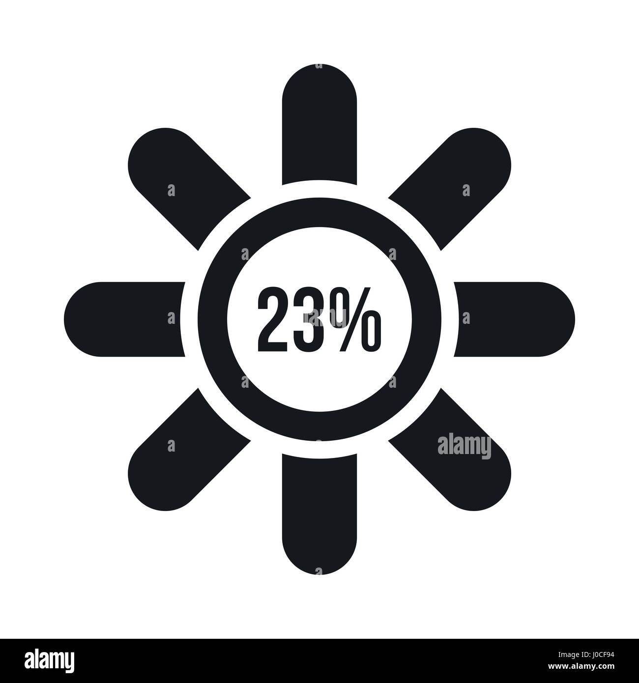 Sign 23 load icon, simple style - Stock Image