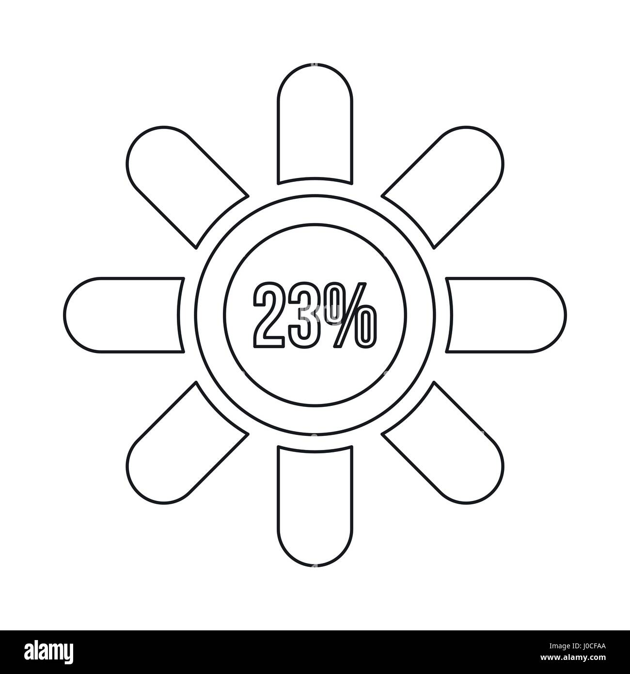 Sign 23 load icon, outline style - Stock Image