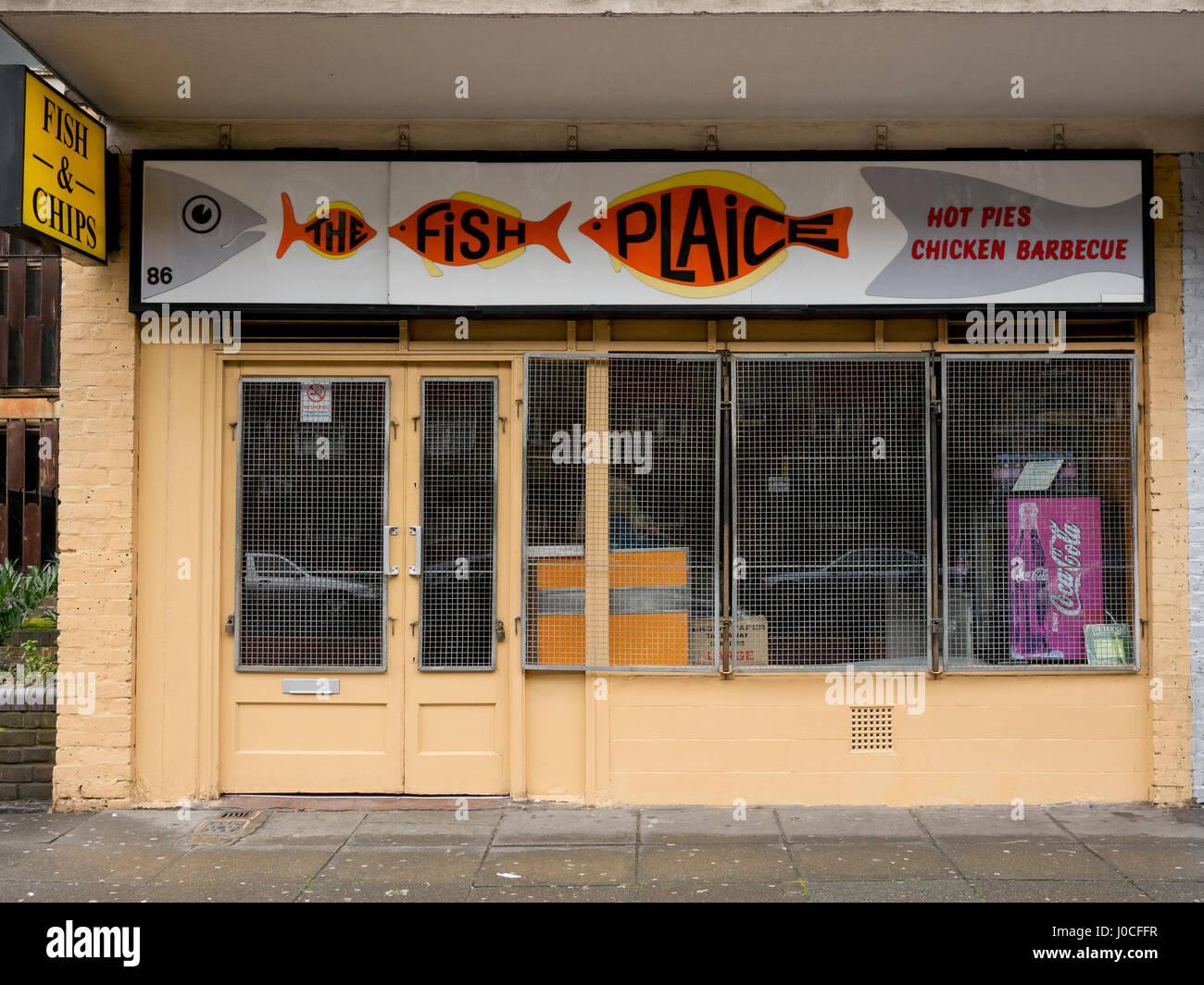 Fish and Chip shop Cambridge Heath Road Bethnal Green London - Stock Image