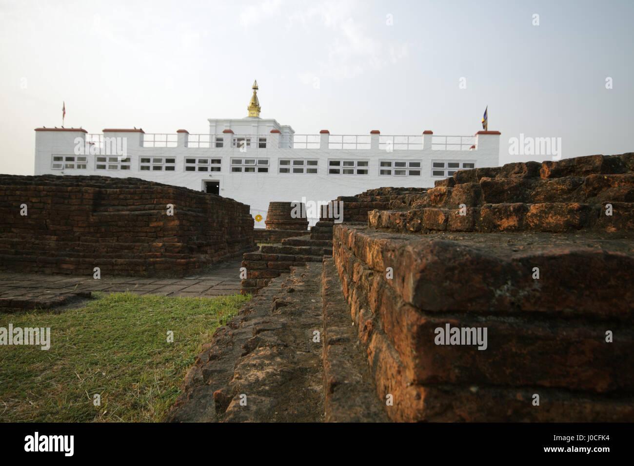 Maya devi temple, lumbini, nepal - Stock Image