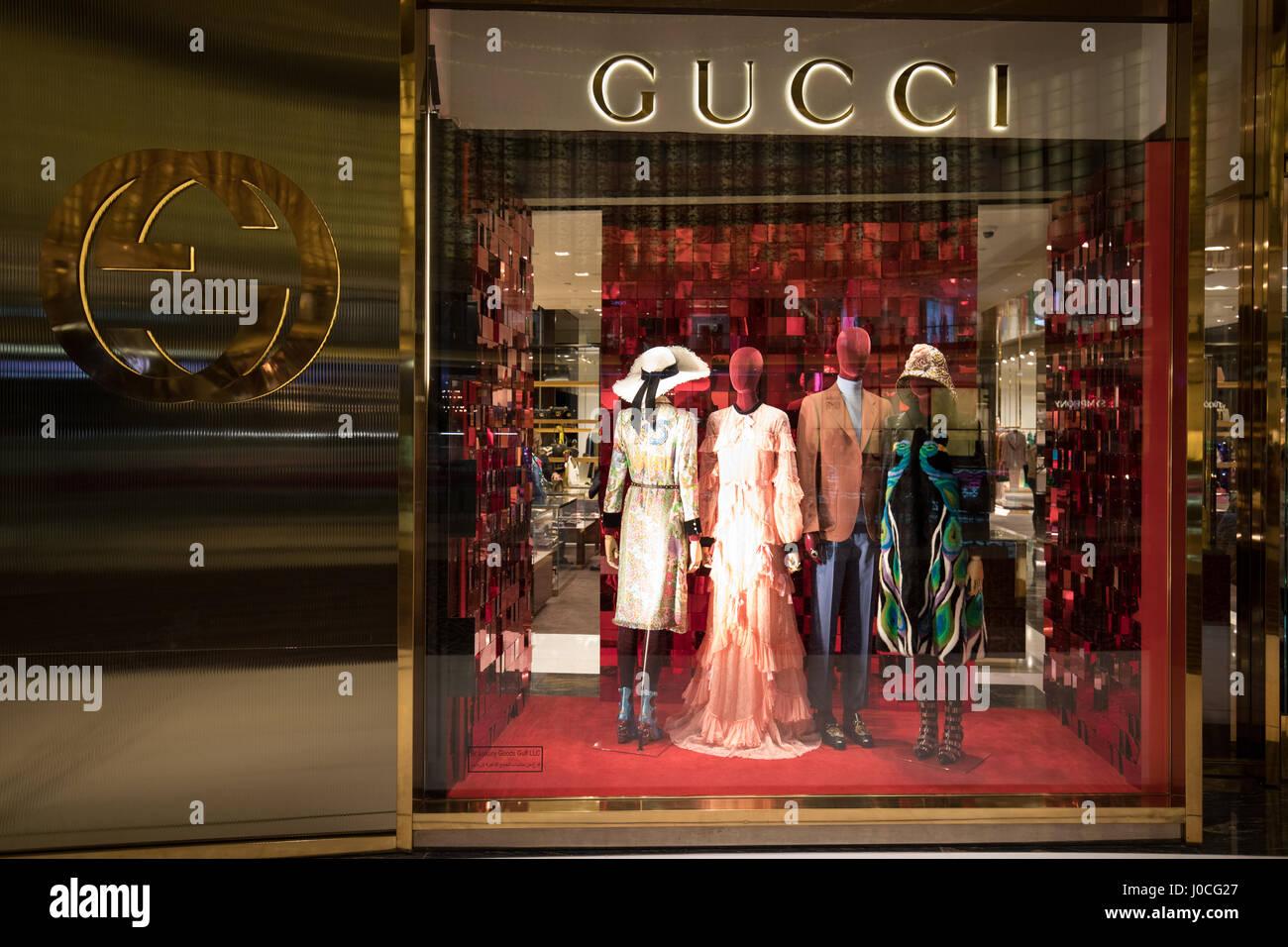 The Gucci shop in Fashion Avenue of the Dubai Mall Stock Photo ... 68f46e20091