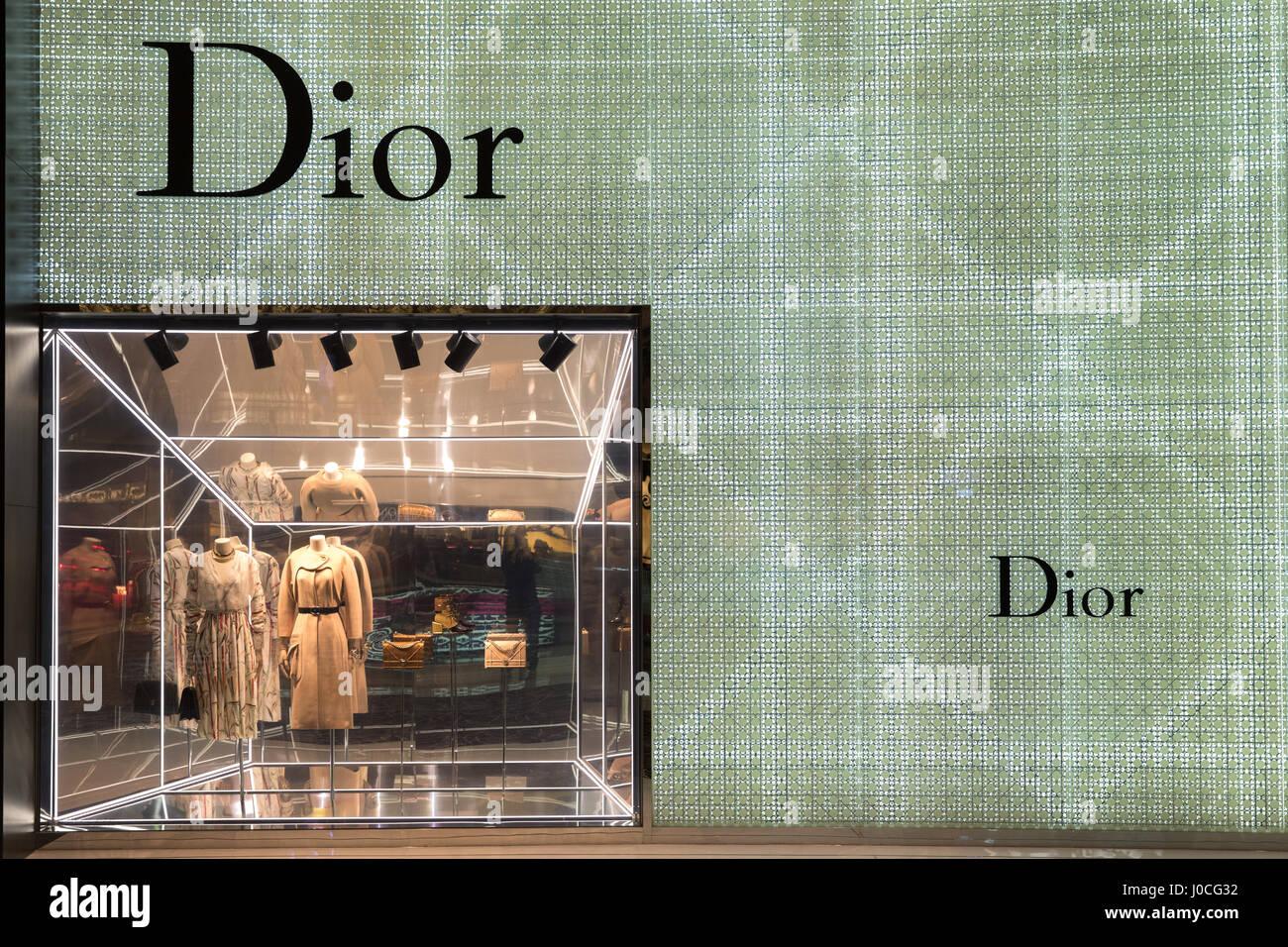 The Dior store in Dubai Mall - Stock Image