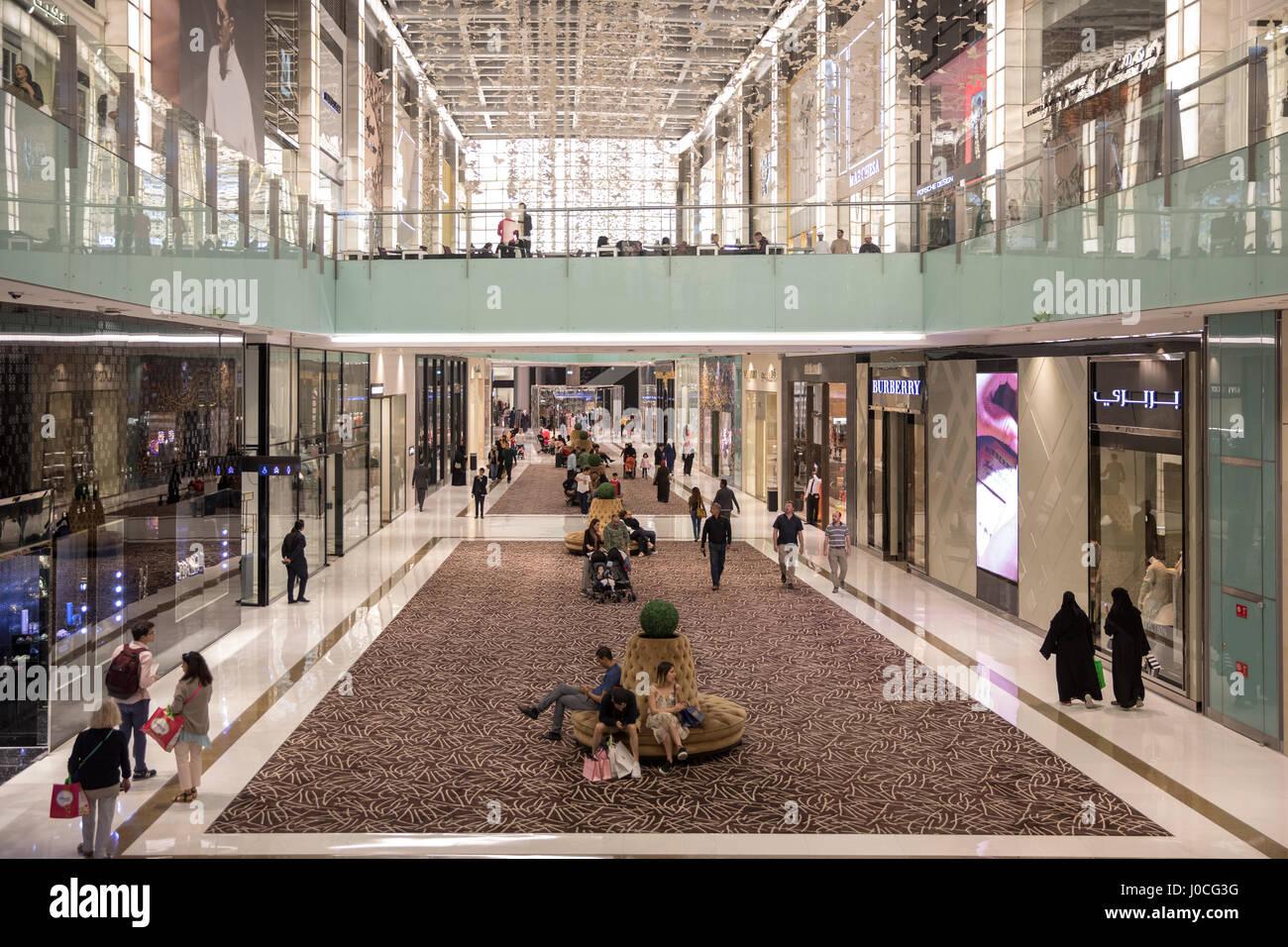 Fashion Avenue of the Dubai Mall. - Stock Image