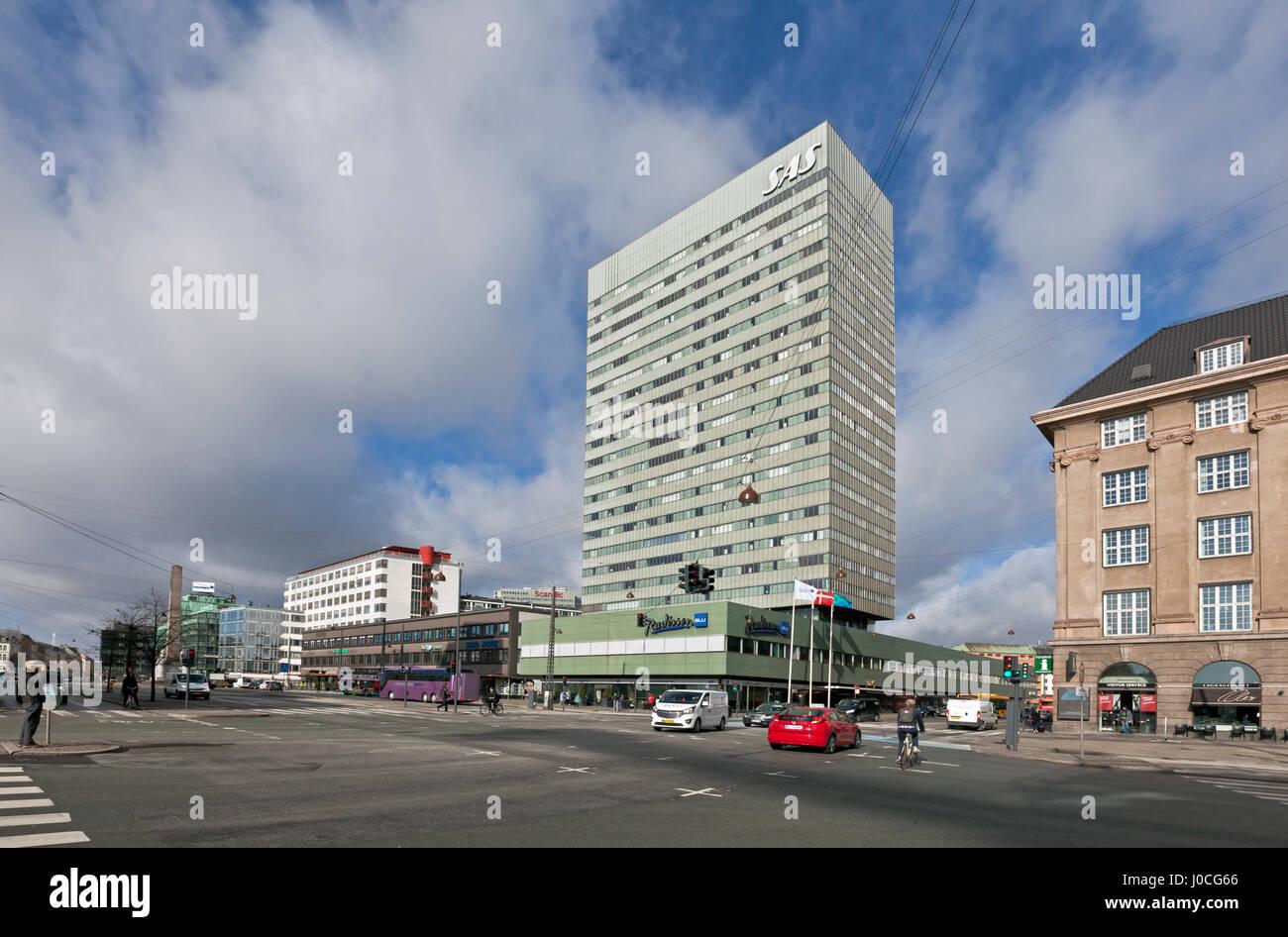 The Radisson Blu Royal Hotel, or just the SAS Hotel, at Vesterbrogade in Copenhagen, Denmark. - Stock Image