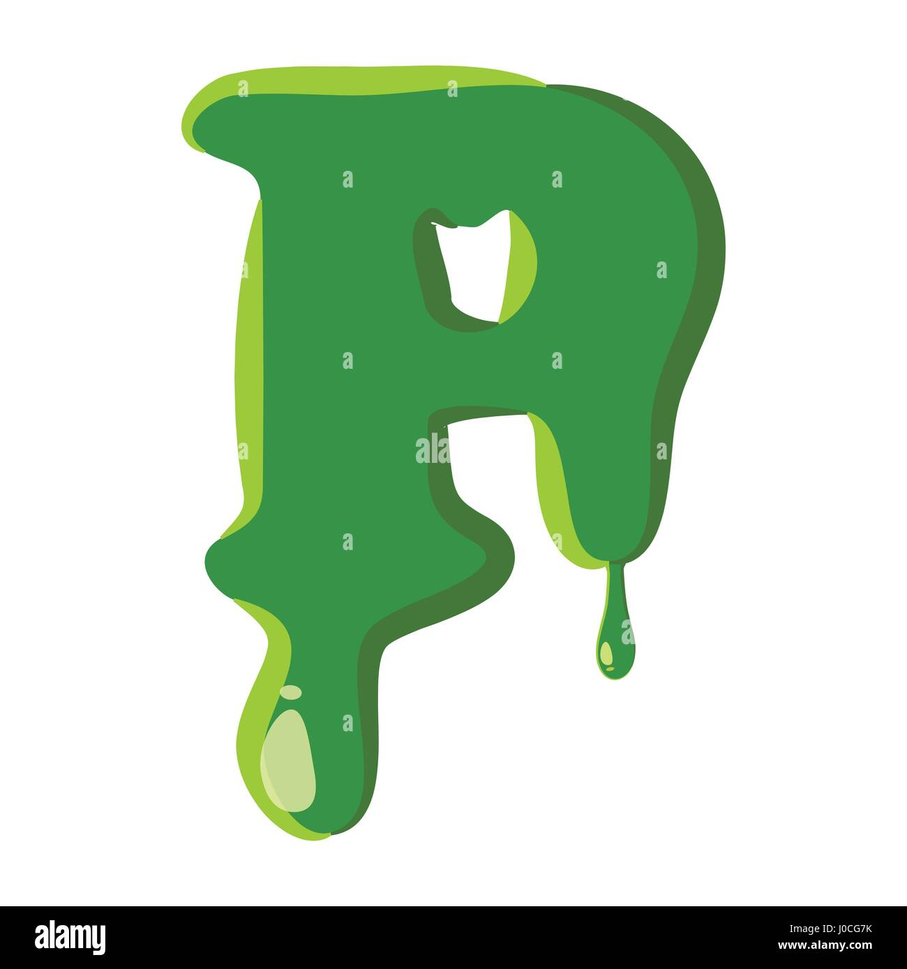 Letter P Made Of Green Slime Stock Vector Art Illustration Vector