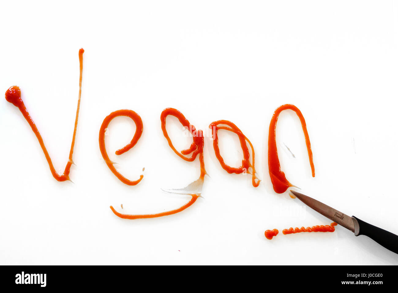 The word 'Vegan' shown as lifestyle graffiti Stock Photo