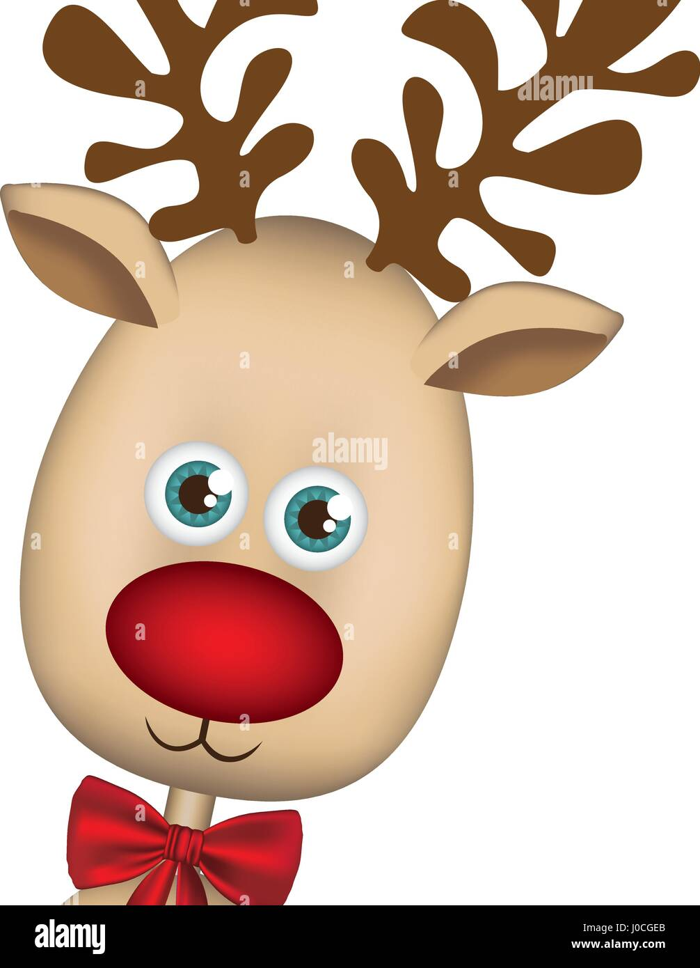 Color Background Of Christmas Reindeer Face Stock Vector Image Art Alamy