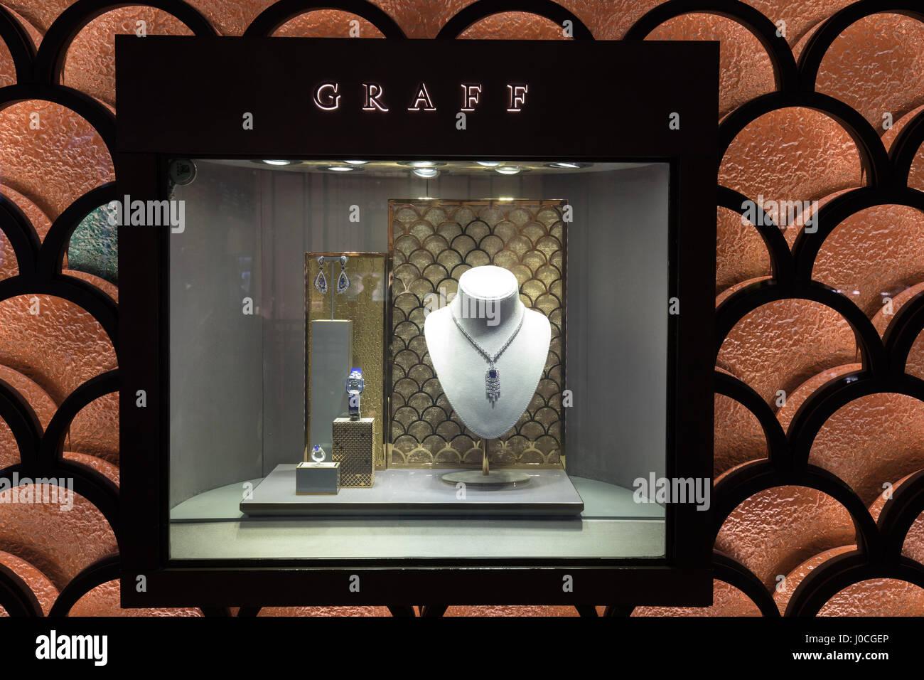 The Graff store in Dubai Mall. UAE Stock Photo