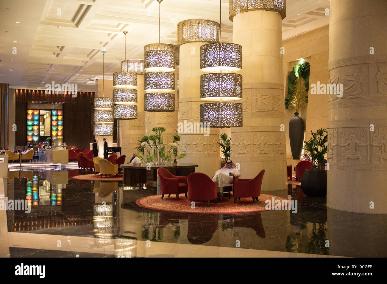 The Raffles hotel in Dubai - Stock Image