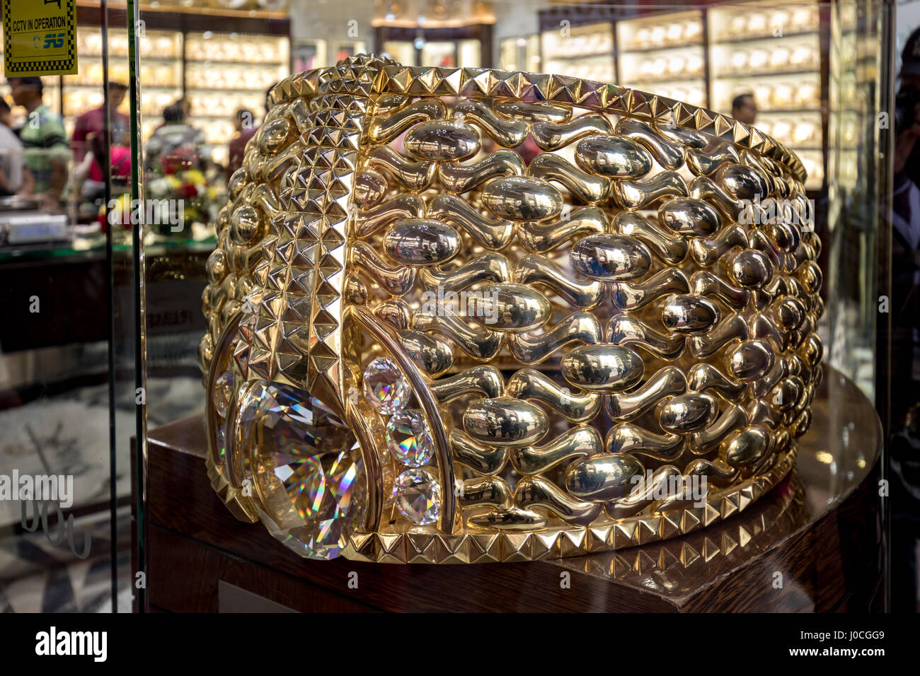 The Najmat Taiba or Star of Taiba, The world's largest gold ring. - Stock Image