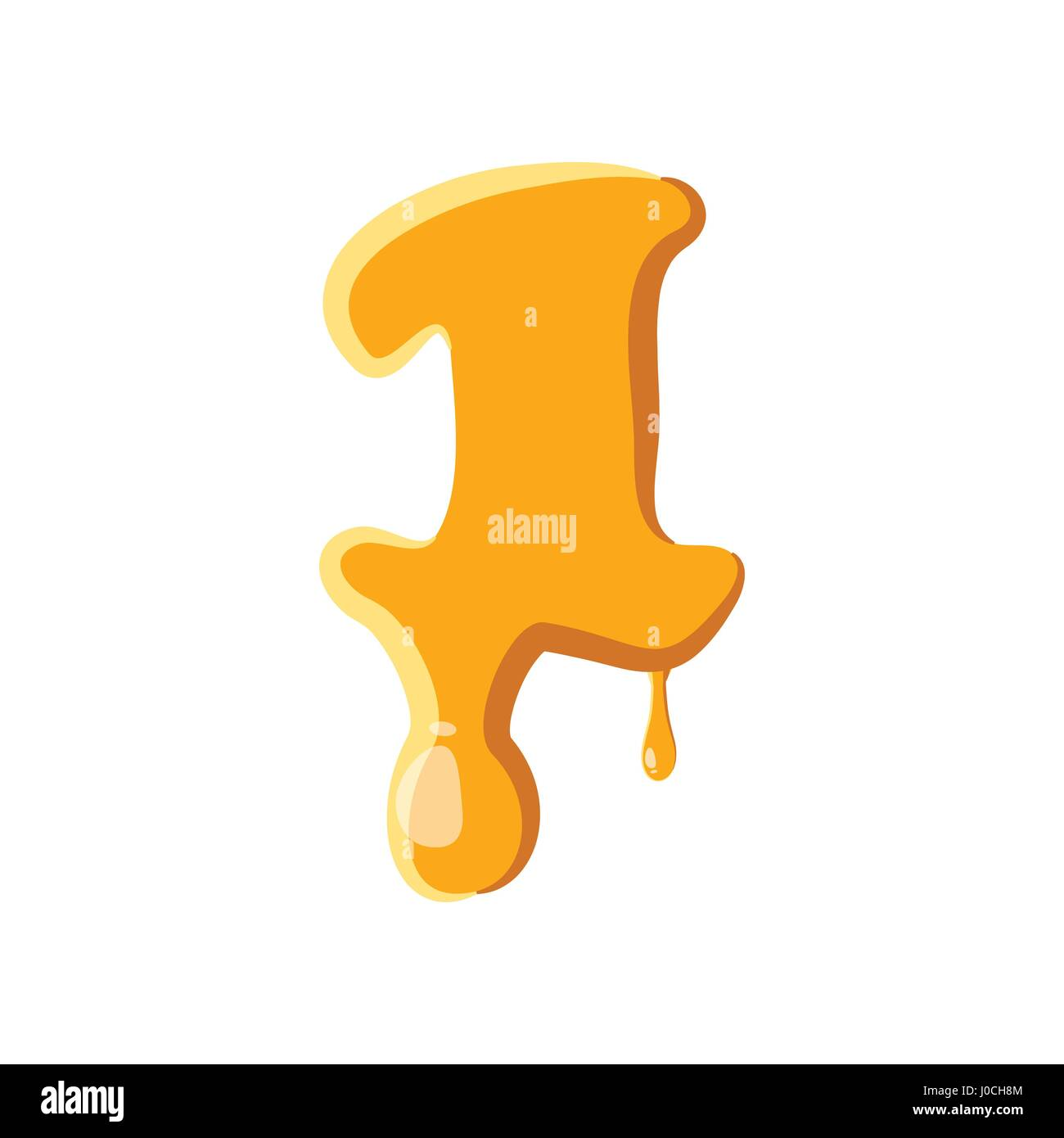 Number 1 from honey icon - Stock Image