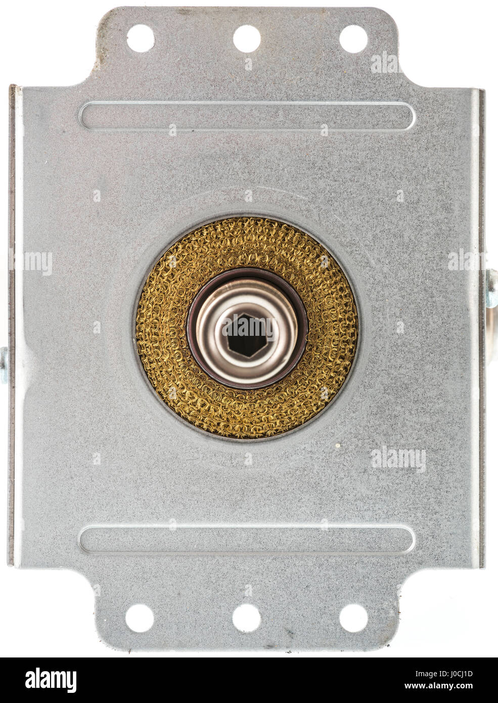 A Magnetron from a microwave oven. - Stock Image