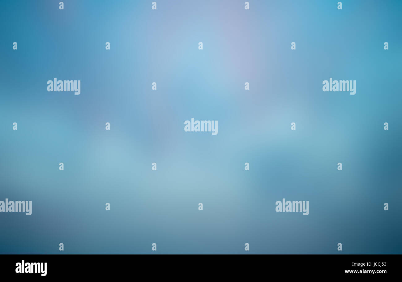 abstract blue blurred background - Stock Image