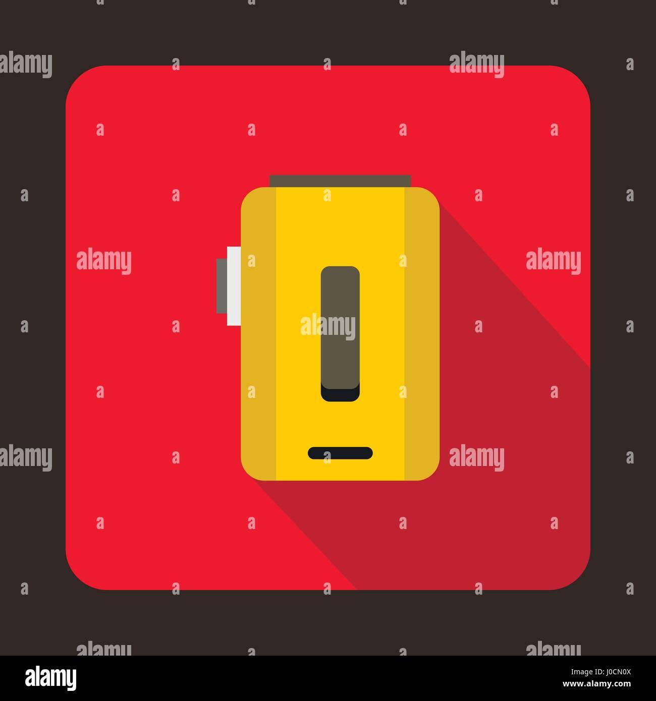 Box mod, vaporizer icon, flat style - Stock Image