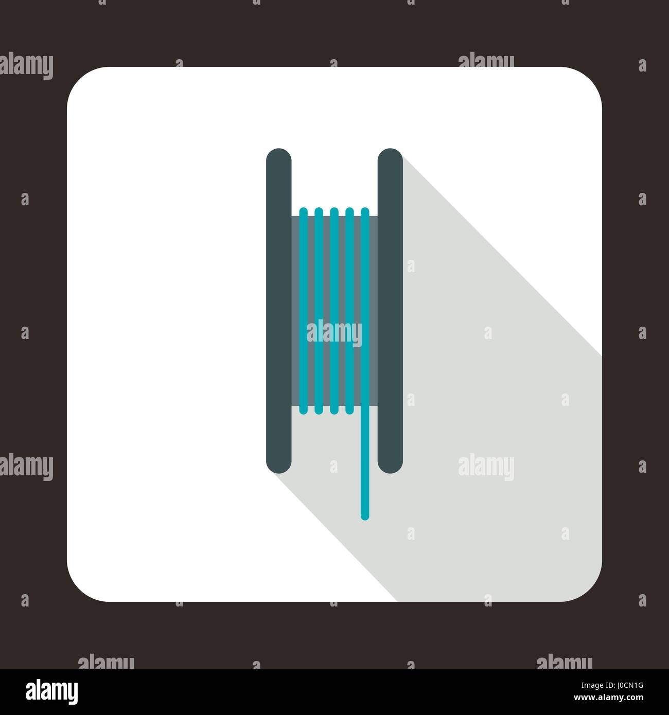 Wire spool icon, flat style - Stock Vector