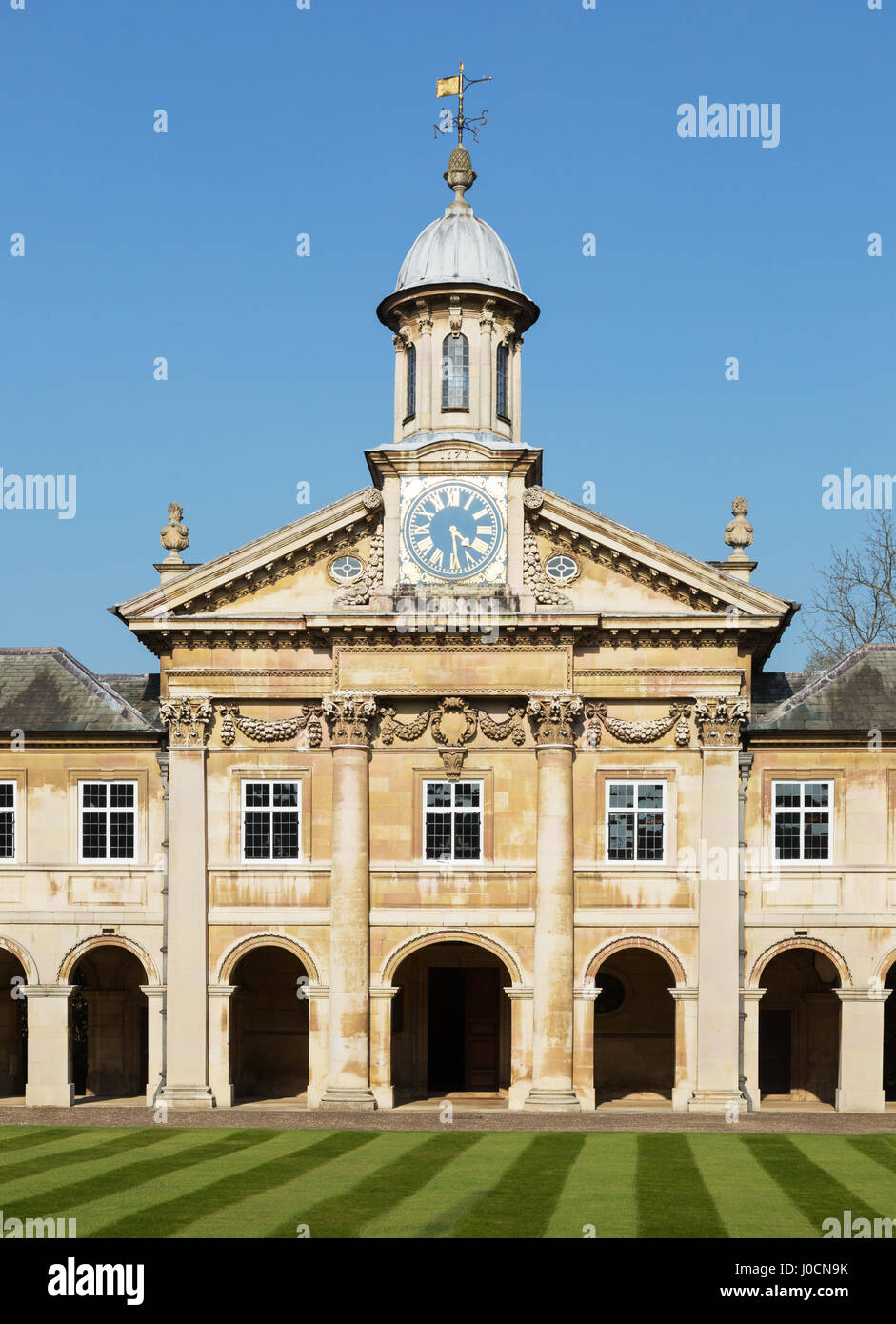 Emmanuel College Cambridge, a Cambridge University college, Cambridge England - Stock Image