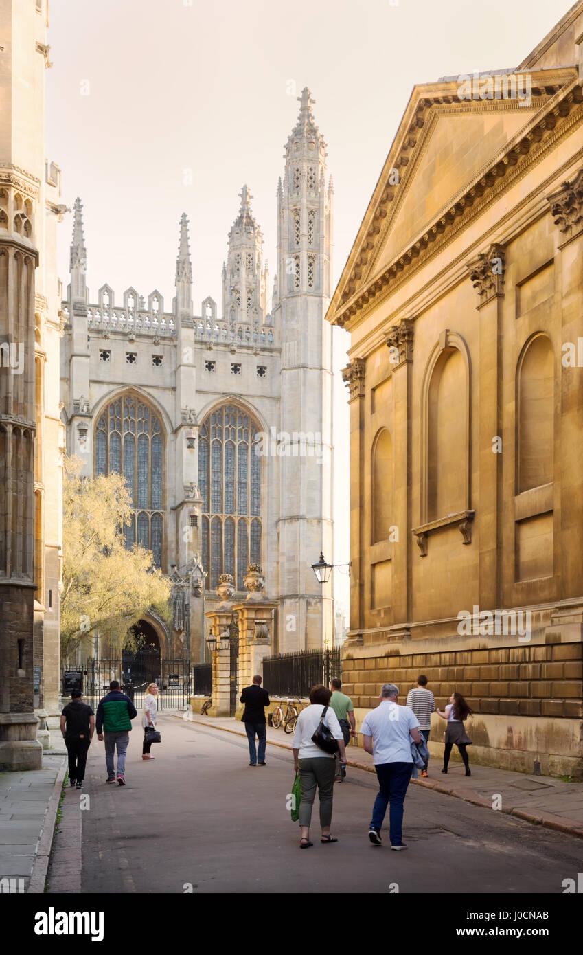 Cambridge University and Kings College Chapel, Cambridge city centre, Cambridge UK - Stock Image