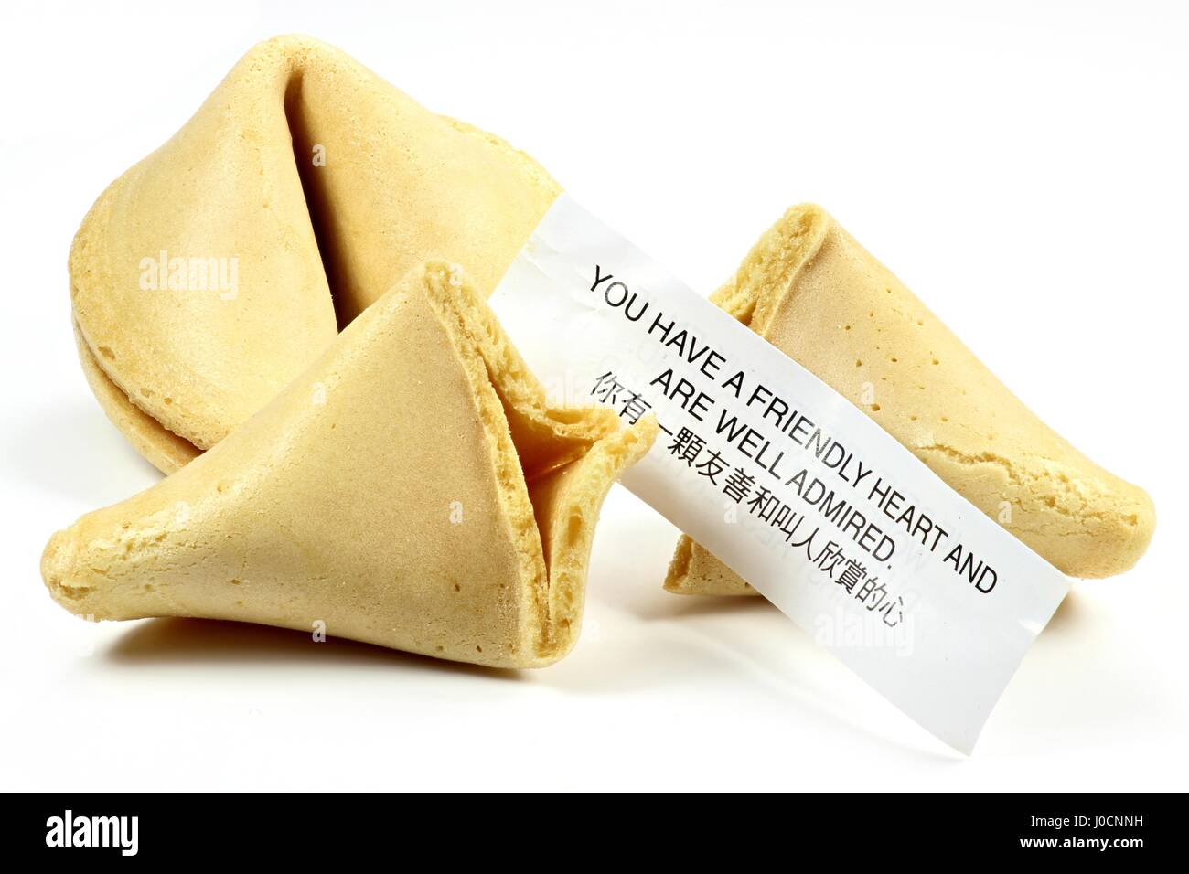 fortune cookies isolated on white background - Stock Image