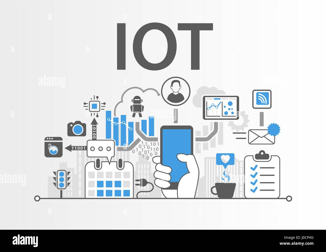 IOT Internet of Things concept as vector illustration Stock Vector
