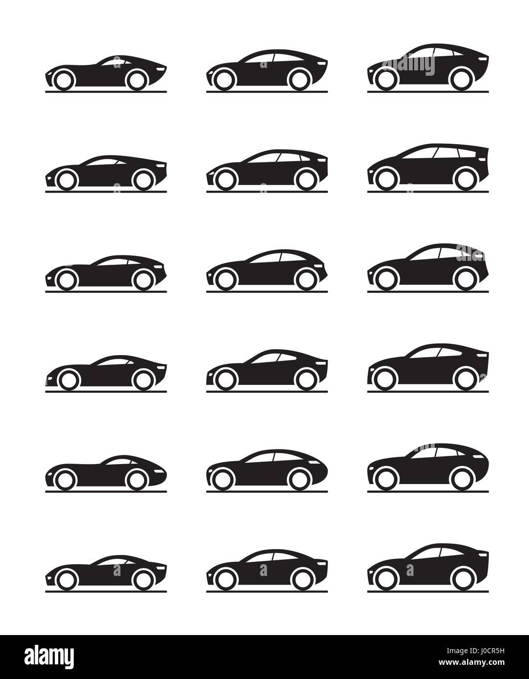 Contemporary concept cars - vector illustration - Stock Image