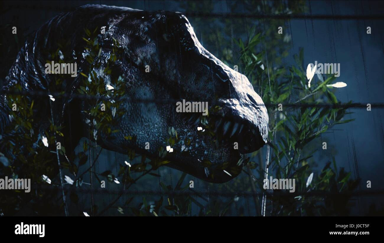 T Rex Jurassic World 2015 Stock Photo Alamy