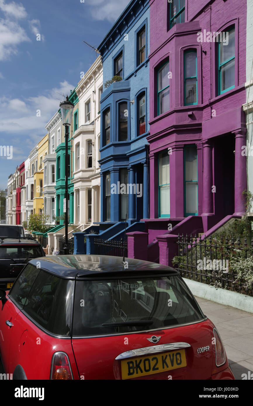 Spring views of a street in Ladbroke Grove in London. Photo date: Tuesday, April 11, 2017. Photo credit should read: Stock Photo