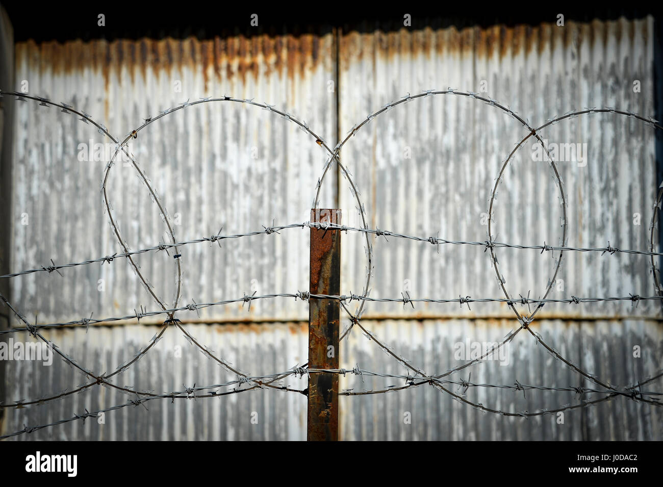Industrial Fence Stock Photos & Industrial Fence Stock Images - Alamy