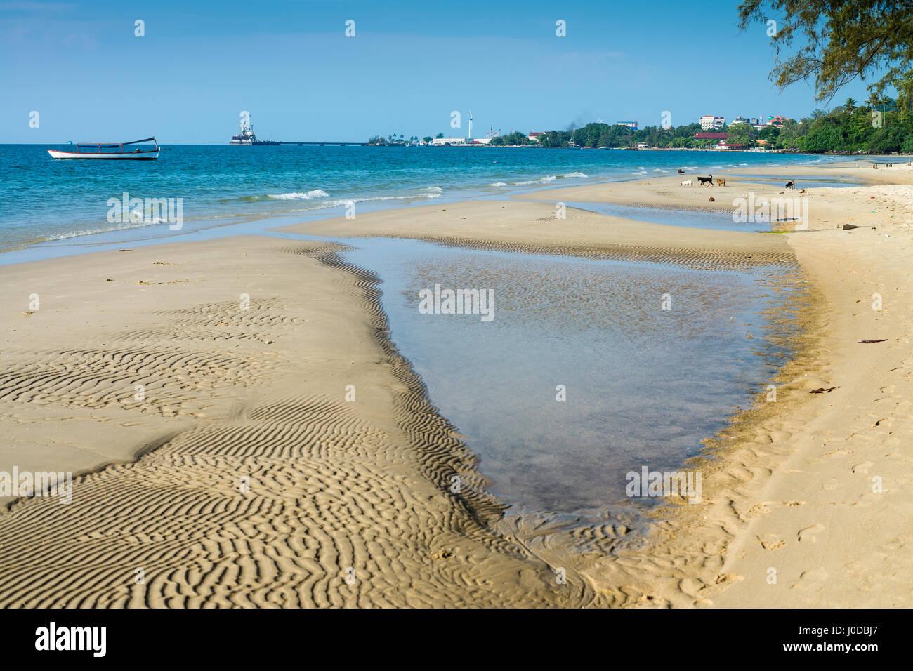 Hawaii Beach in the Sihanouk , Cambodia, Asia. Stock Photo