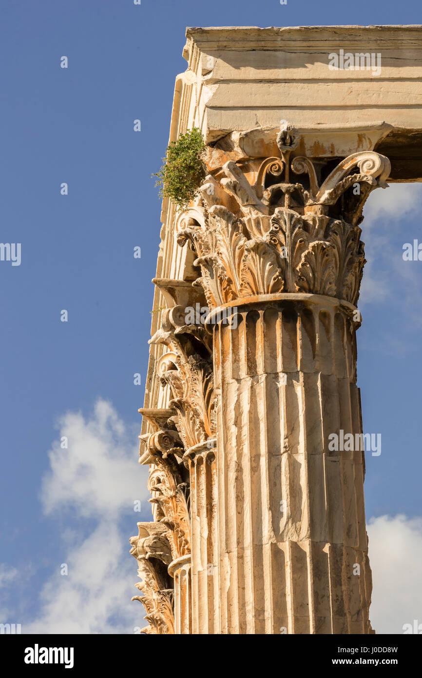 Corinthian Columns (Greece) - Stock Image