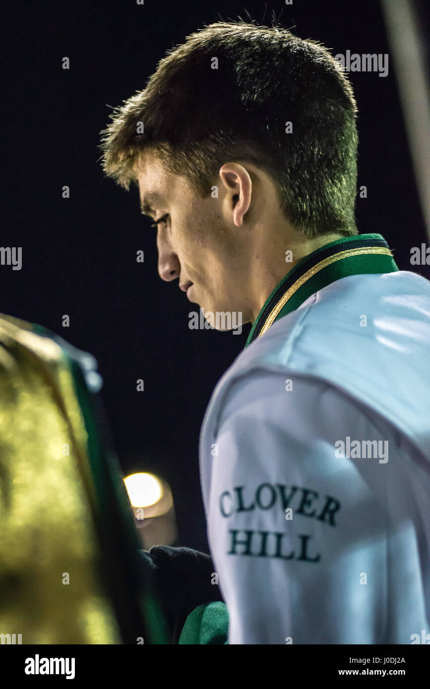 Youn teen age marching band member. - Stock Image