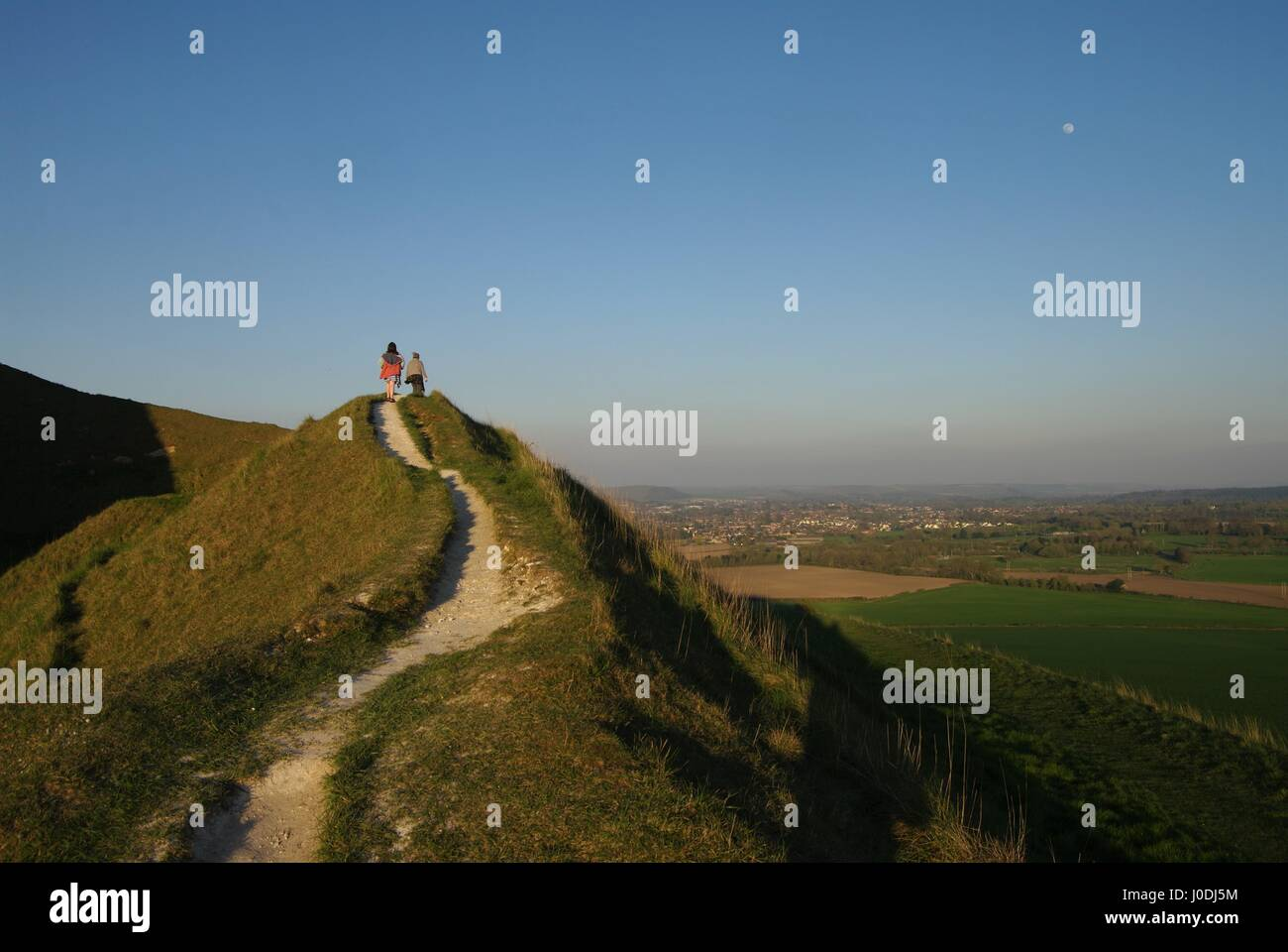 Cley Hill, Warminster, Wiltshire, England, UK - Stock Image