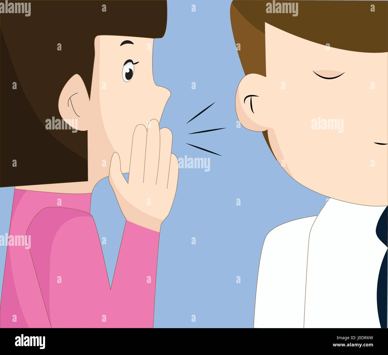 Young woman telling something to her friend - Stock Vector