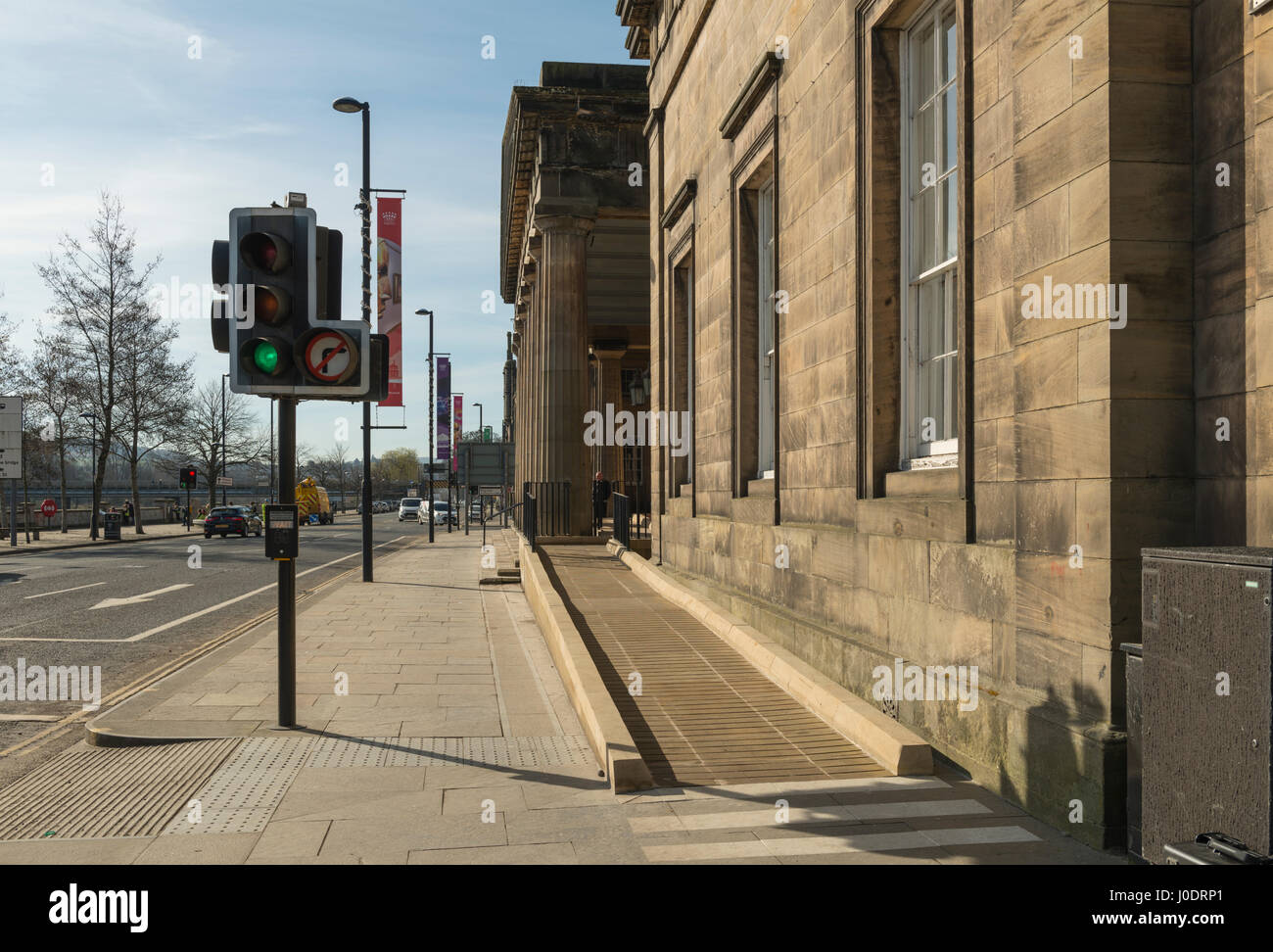 New disability access ramp at Perth Sheriff Court, Perth city centre,Tayside,Scotland,United Kingdom Stock Photo