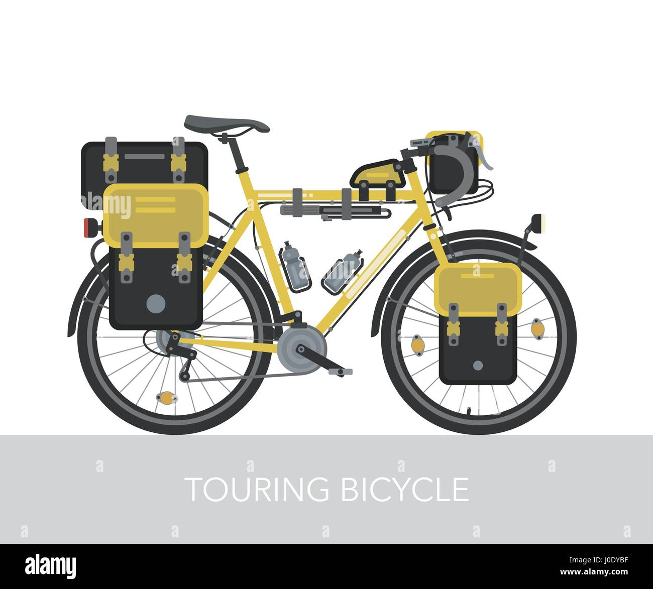Configuration Of City, Touring Or Trekking Bicycle. Bike