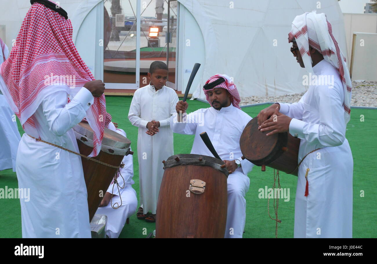 Traditional Arab music of the Persian Gulf region, Kingdom of Bahrain Stock Photo