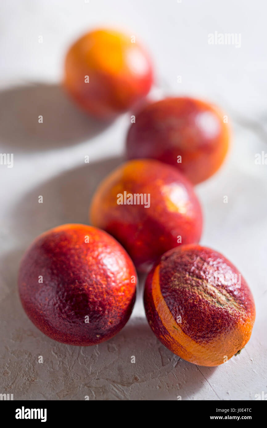 Blood orange fruit - Stock Image