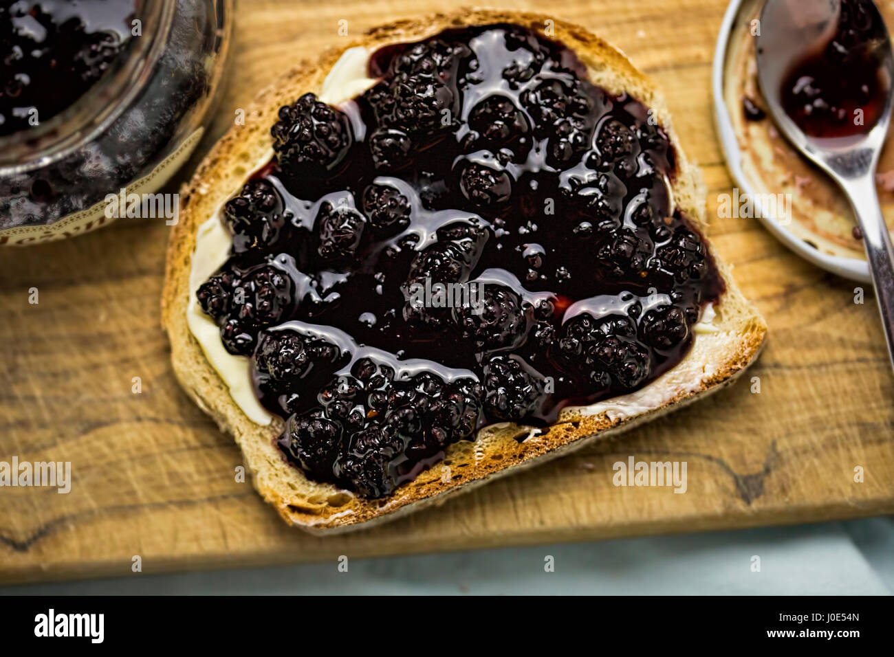 Bread blackberry confiture - Stock Image