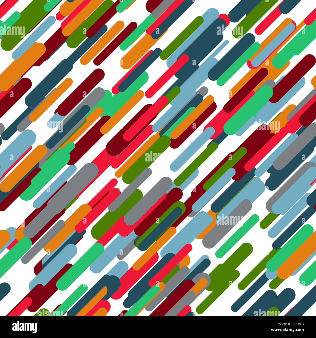 Geometric vector seamless pattern. Abstract background. Irregular colorful diagonal texture. Simple design. Textured - Stock Vector